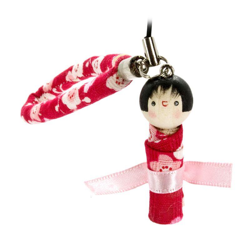 kadounik Japanese Kokeshi Doll Phone Strap Gantungan Handphone