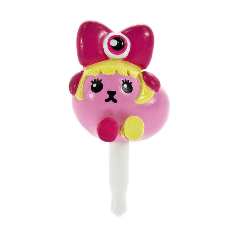 Kadounik Mameshiba x Kyary Pamyu Pamyu Kyappy Mascot Pink Earphone Jack Plug