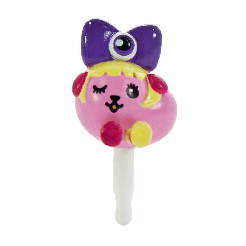 Kadounik Mameshiba x Kyary Pamyu Pamyu Kyappy Mascot Purple Earphone Jack Plug