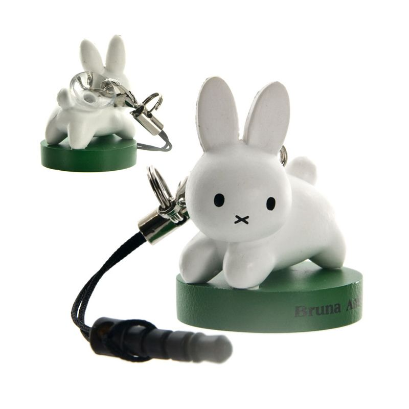 Kadounik Miffy Rabbit Suction Cup Stand Cell Phone Strap Gantungan Handphone