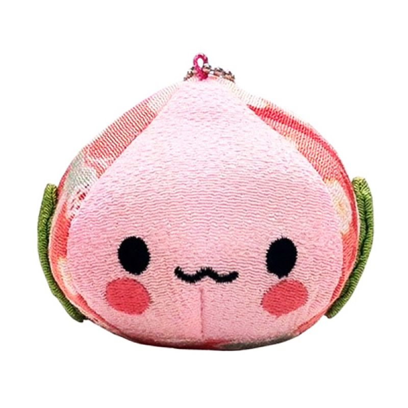 Kadounik Momo Chan Chirimen Ball Mascot Chain Gantungan Handphone