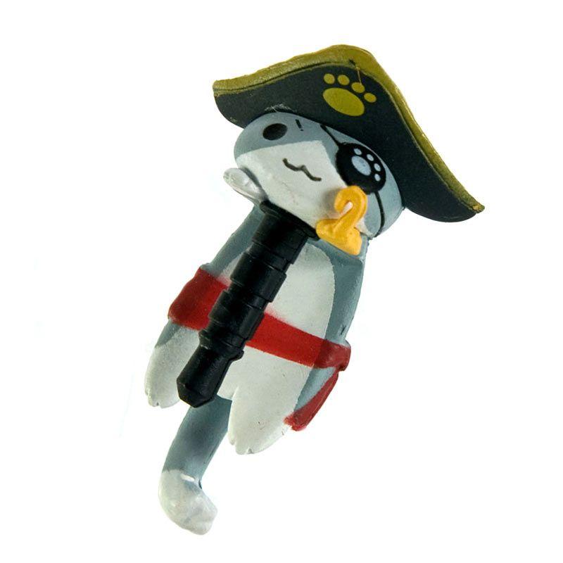 Kadounik Niconico Nekomura Cat Pirate Edition Penutup Lubang Earphone