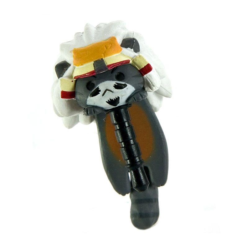 KadoUnik Niconico Nekomura Cat Samurai Edition Takeda Shingen Grey White Penutup Lubang Earphone