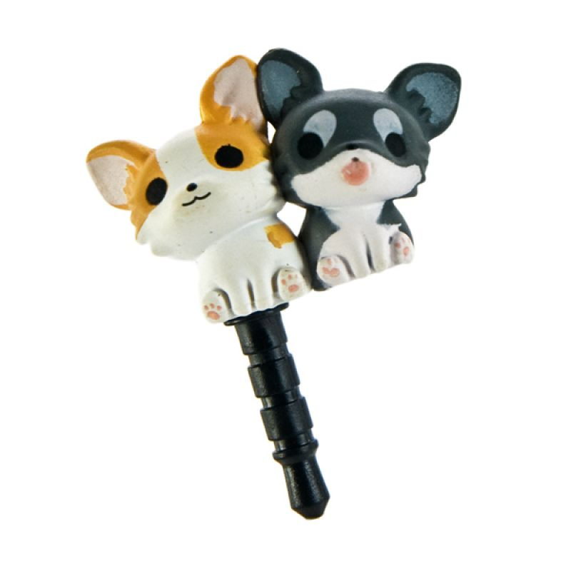Kadounik Niconico Nekomura Puppy Chihuahua Penutup Lubang Earphone
