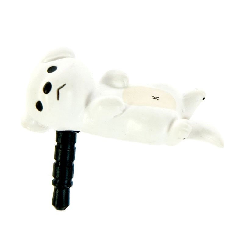 Kadounik Niconico Nekomura Puppy Love White Penutup Lubang Earphone