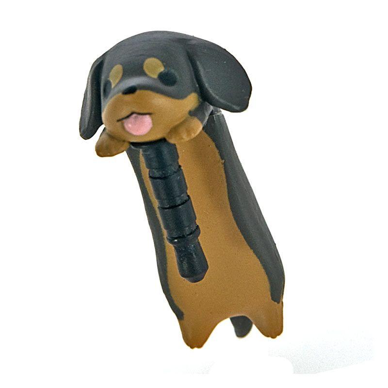 Kadounik Niconico Nekomura Puppy Miniature Dachshund Penutup Lubang Earphone