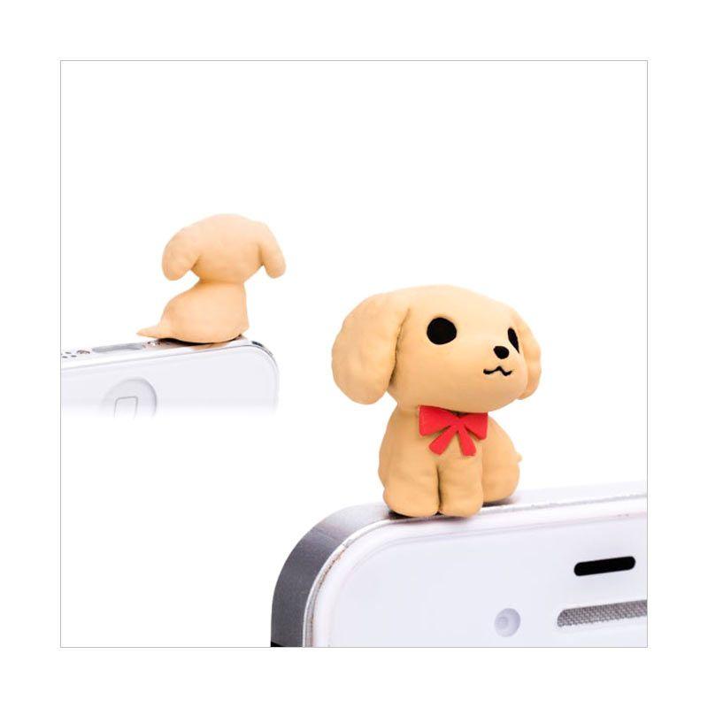 Kadounik Niconico Nekomura Puppy Toy Poodle Brown Penutup Lubang Earphone