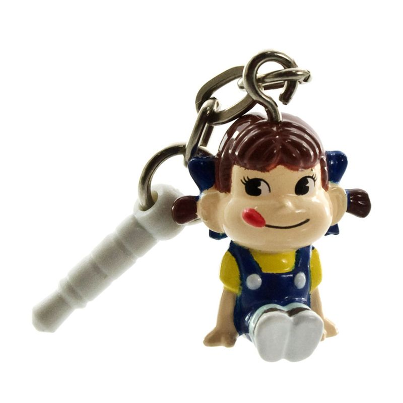 Kadounik Peko chan Swing Blue Earphone Jack Plug Cover