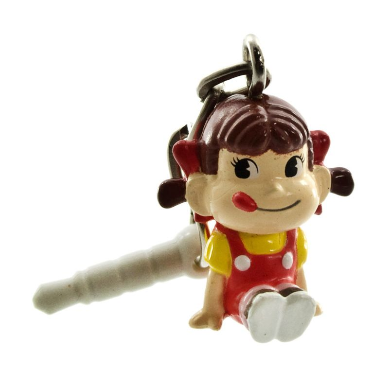 Kadounik Peko chan Swing Red Earphone Jack Plug Cover