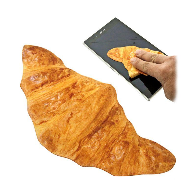 Kadounik Printed Bread Croissants Kain Pembersih Layar Handphone