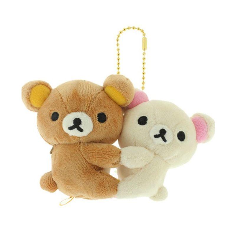 Kadounik Rilakkuma Korilakkuma San-X Happy Friend Plush Doll Ball Chain Gantungan Handphone