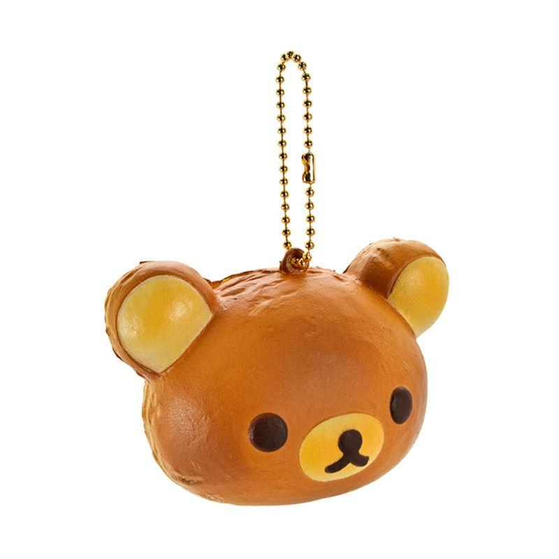 Kadounik Rilakkuma San-X Rilakkuma Squishy Bread Ball Chain Gantungan Handphone