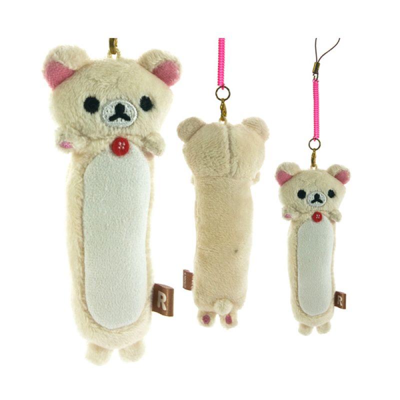 Kadounik San-X Rilakkuma Korilakkuma Long Plush Doll Cleaner Gantungan Handphone
