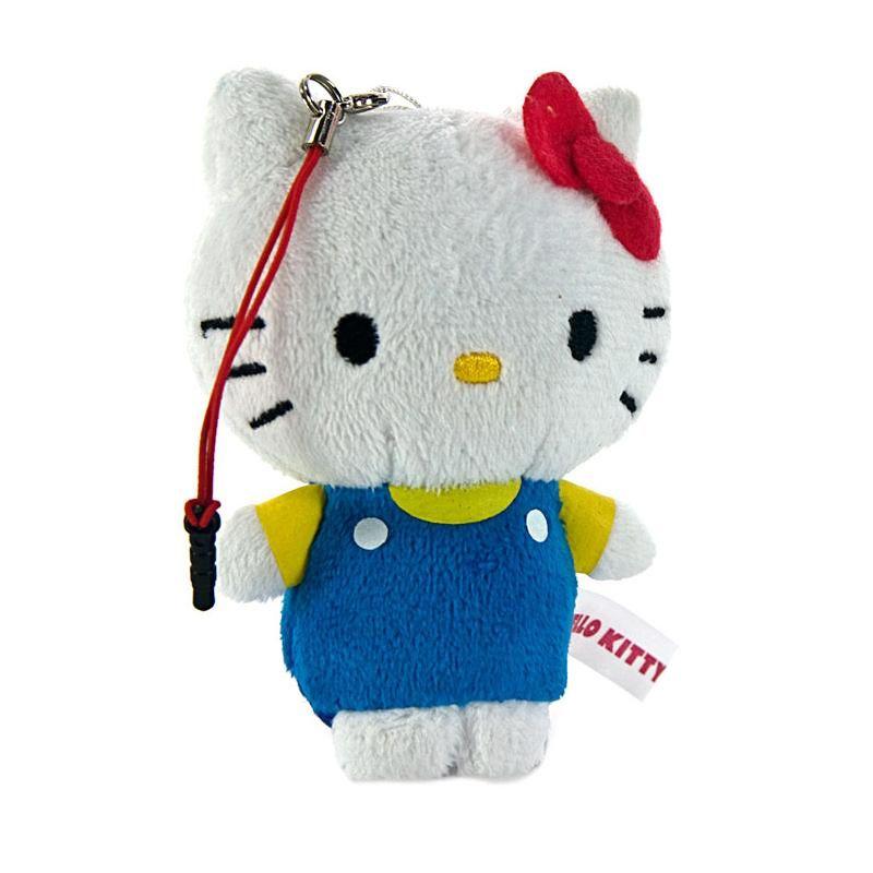 Kadounik Sanrio Characters Hello Kitty Plush Doll Hybrid Earphone Jack Plug Cover