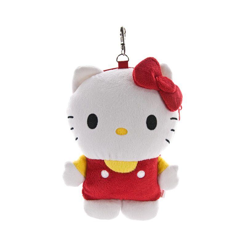 Kadounik Sanrio Hello Kitty Plush Doll Merah Putih Smartphone Pouch