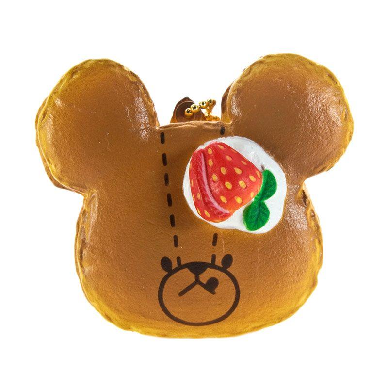 Kadounik The Bear's Pancakes Strawberry Coklat Gantungan Kunci