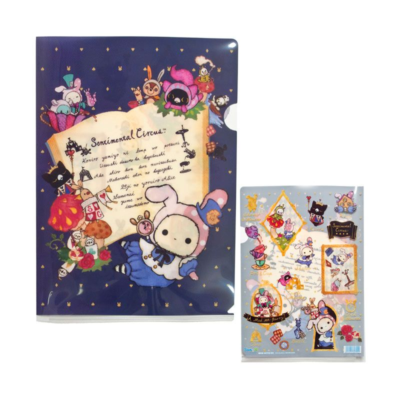 San-X Sentimental Circus Alice in Wonderland Theme Clear Folder [A4 Size]