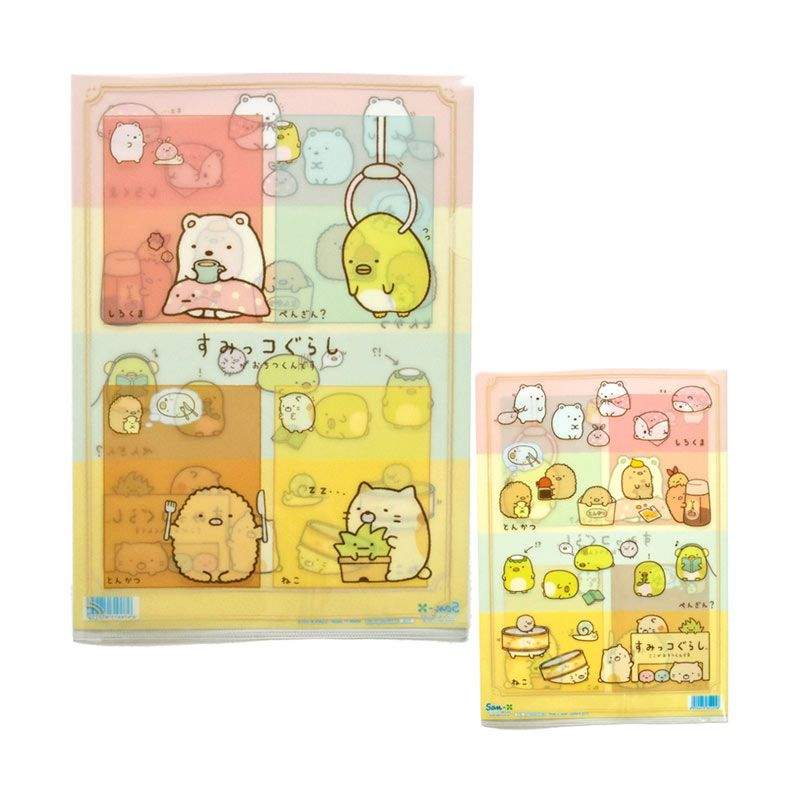 San-X Sumikko Gurashi Four Colors Clear Folder [A4 Size]