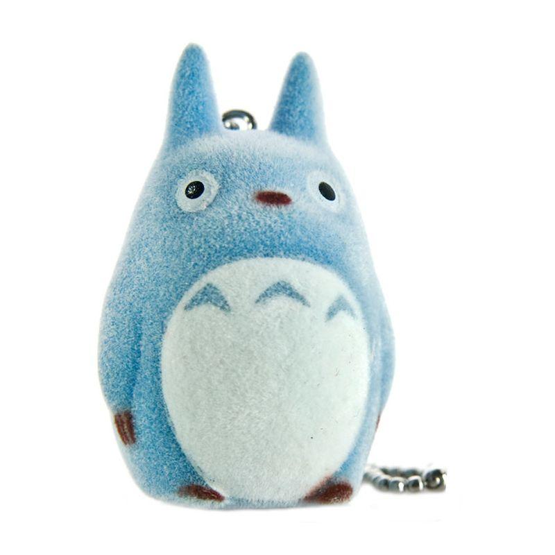 Sekiguchi Studio Ghibli My Neighbor Totoro Flocking Doll Cell Phone Strap (Chu Totoro)