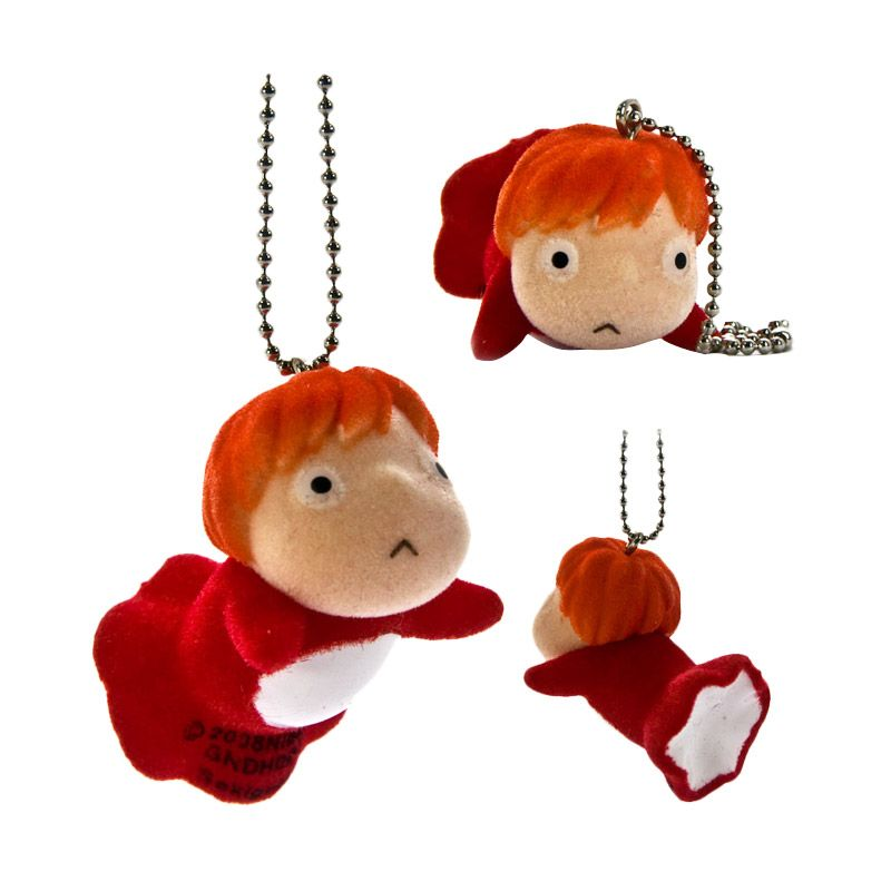 Sekiguchi Studio Ghibli Ponyo on The Cliff Flocking Doll Phone Strap
