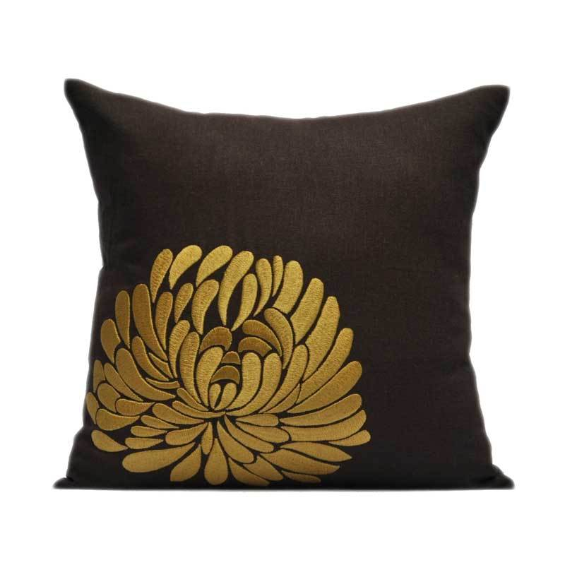 Kainkain Brown Aster Pillow Cover