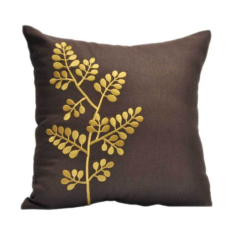 Kainkain Brown Branches Pillow Cover