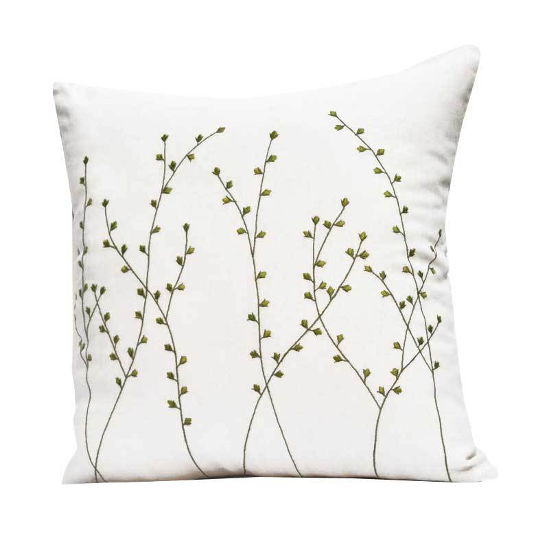 Kainkain Cream Pussy Willow Pillow Cover