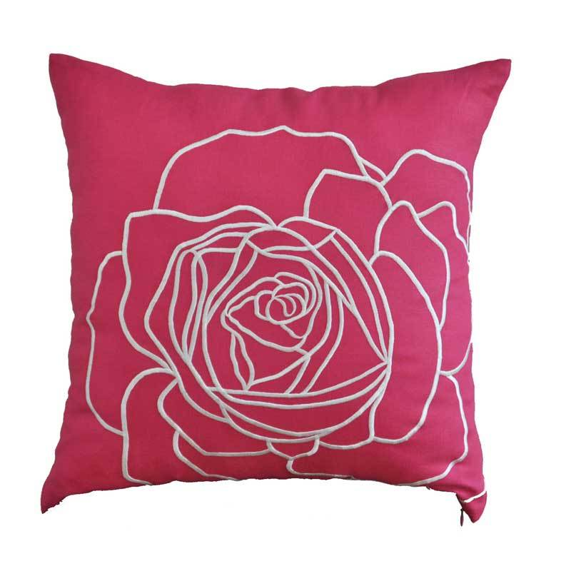 Kainkain Fuchsia Rose Pillow Cover