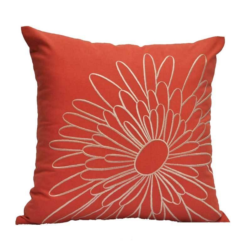 Kainkain Orange Magnolia Pillow Cover