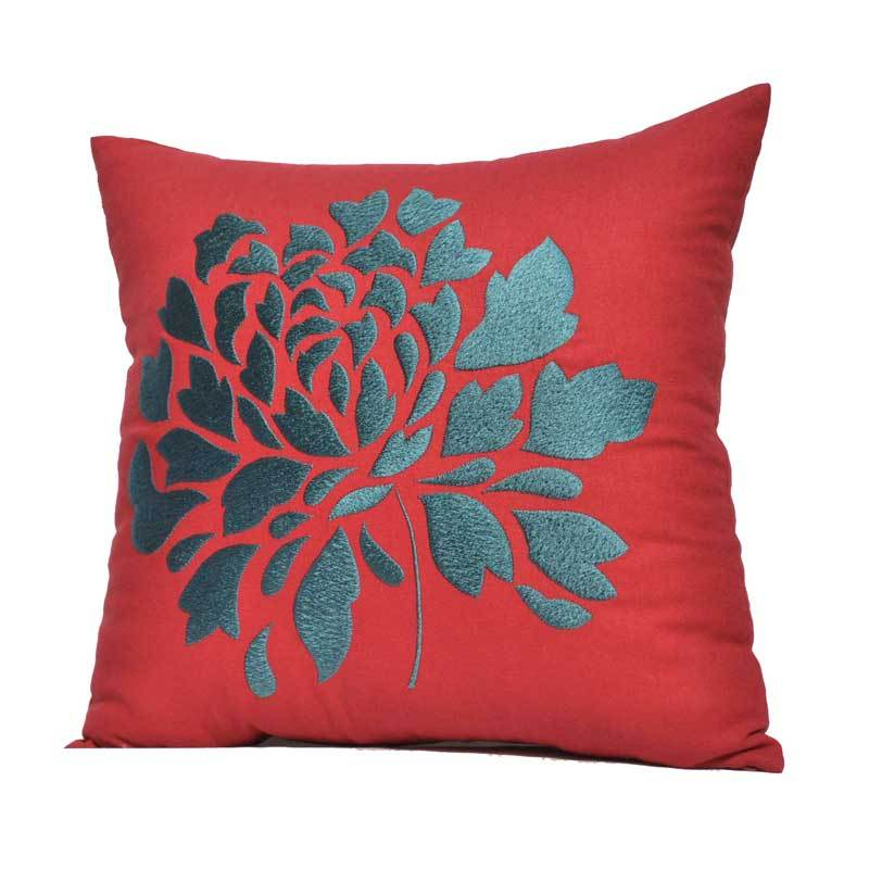 Kainkain Red Peony Pillow Cover