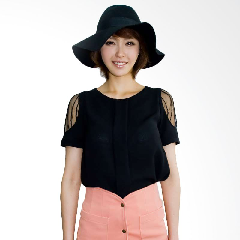Kakuu Basic Blouse Sleeve Point Black