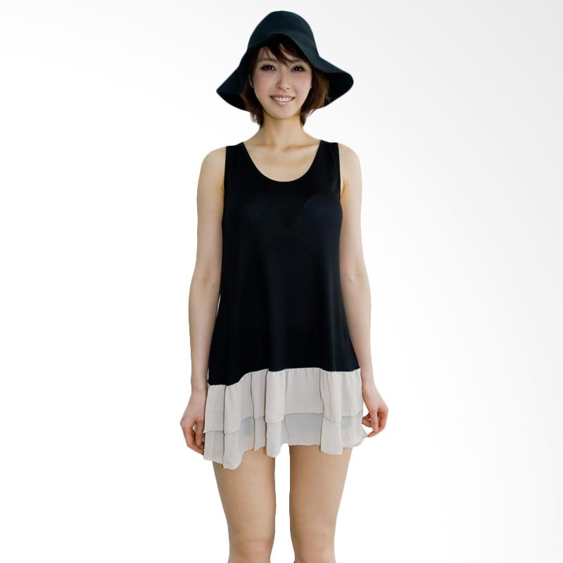 Kakuu Basic Dress Back Stack Black