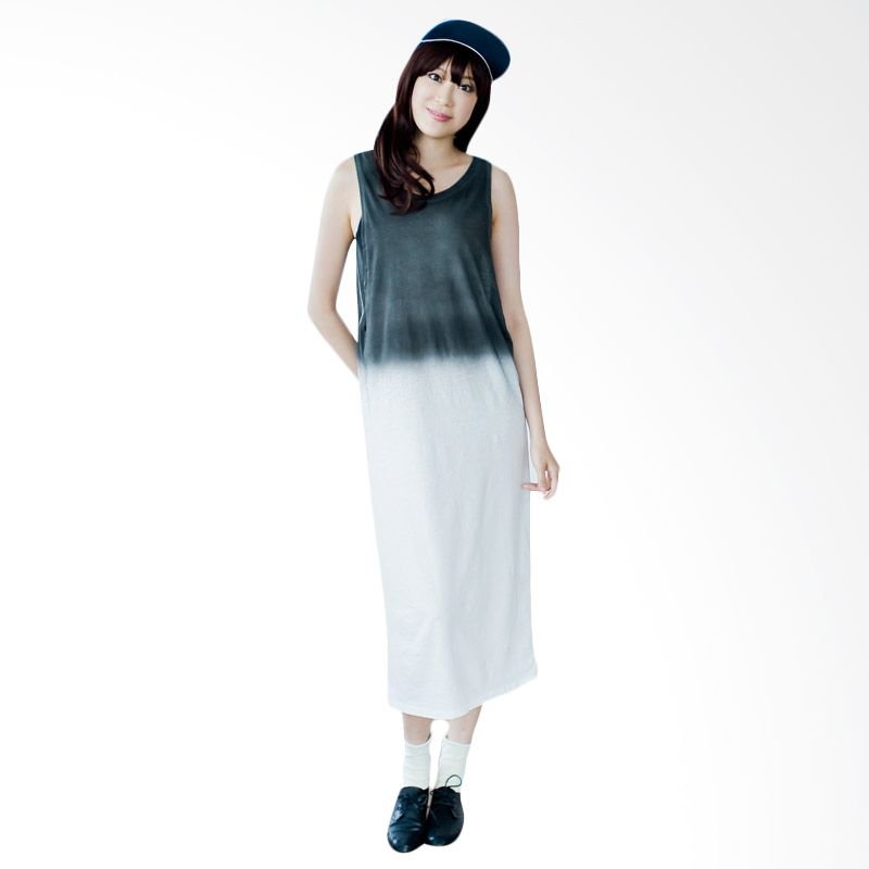 Kakuu Basic Dress Gradation Long Gray
