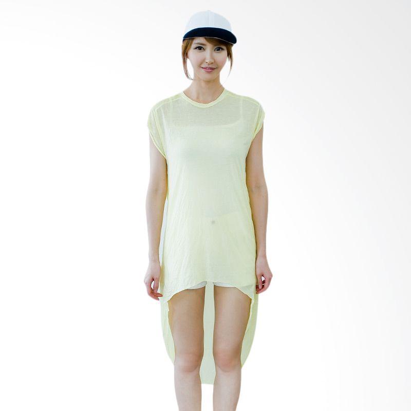 Kakuu Basic Dress Hi Low Boxy Yellow