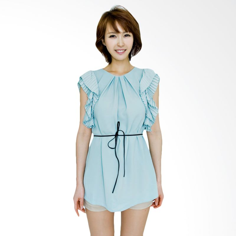 Kakuu Basic Dress Pleat Sleeve Mint