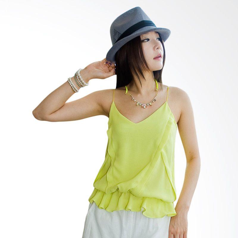 Kakuu Basic Feminine Waist Band Yellowish green Atasan Wanita