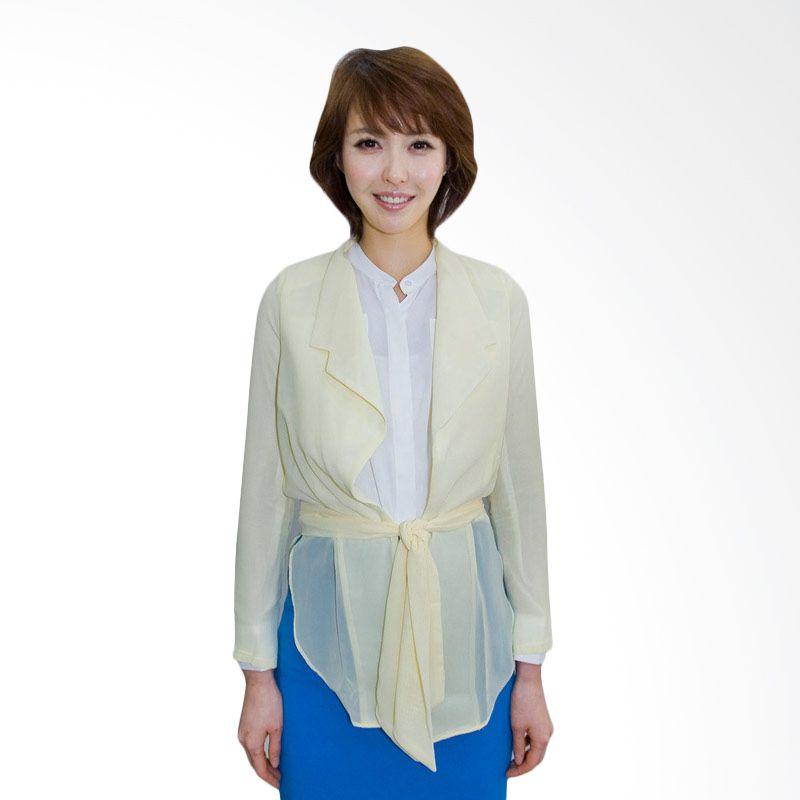 Kakuu Basic Jacket Feminine See Thru Yellow