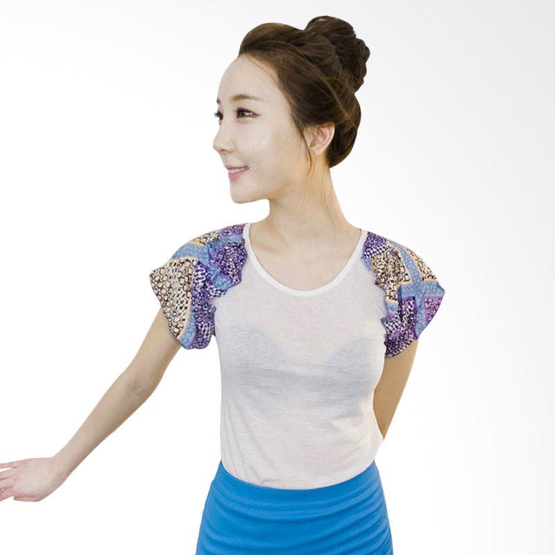 Kakuu Basic Motif Ivory T-shirt Sleeve