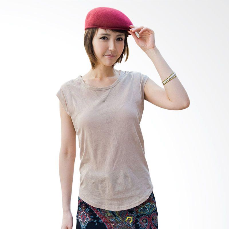 Kakuu Basic Padded Shoulder Beige Atasan Wanita