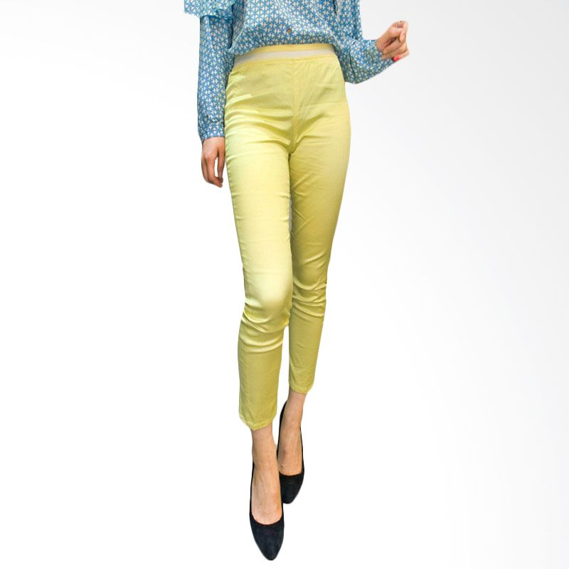 Kakuu Basic Pants Semi Gloss Yellow