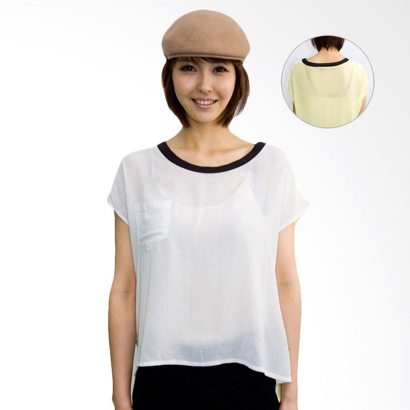 Kakuu Basic Shirt 2 Coloration Boxy Ivory Yellow