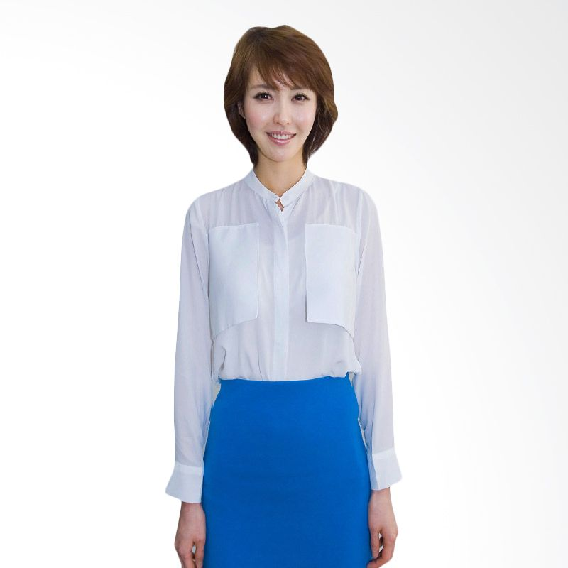 Kakuu Basic Shirt Big Pocket White