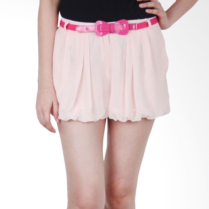 Kakuu Basic Short Pants Belt Set Light Pink