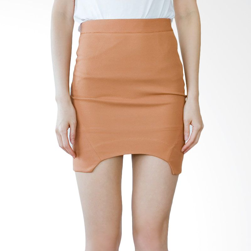 Kakuu Basic Rok Round Cut Out Camel