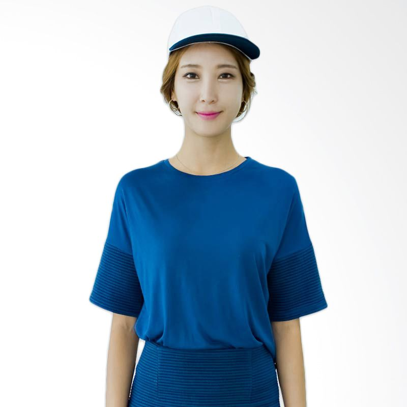 Kakuu Basic T-shirt Stripe Detailed Blue