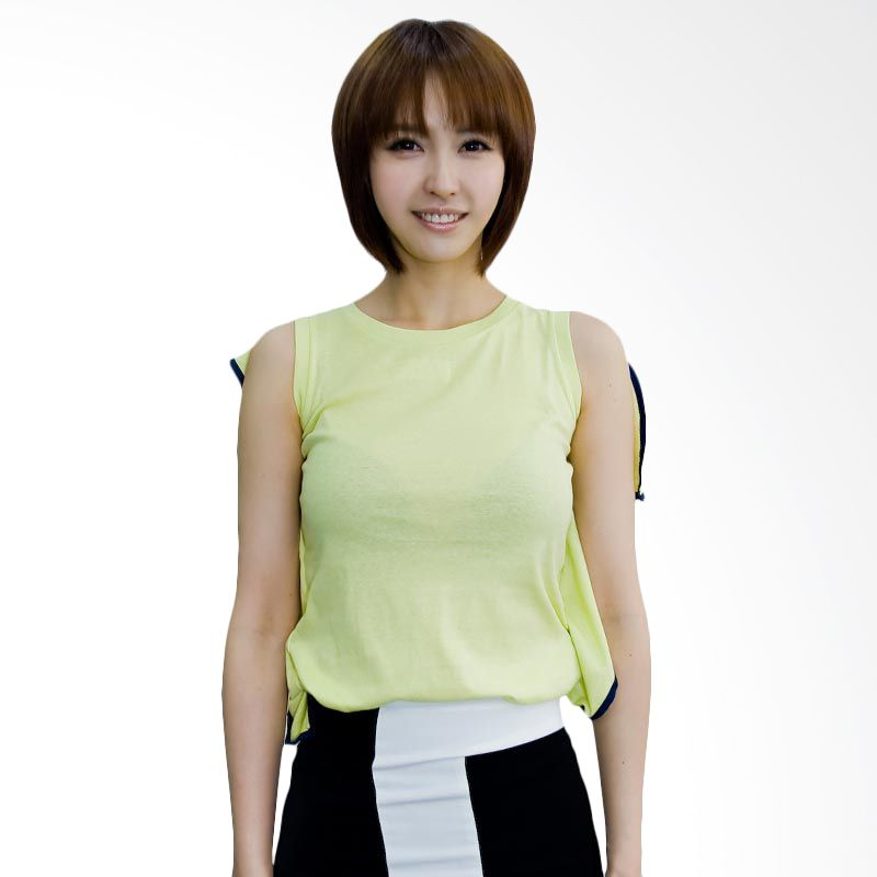 Kakuu Basic Tshirt Unique Sleeveless Light Green