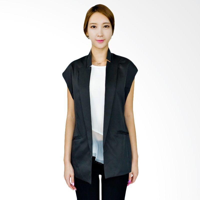 Kakuu Basic Vest Buttonless Slim Fit Gray