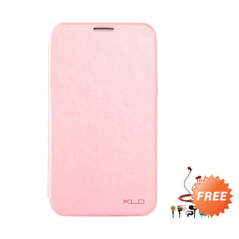 Kalaideng Enland Series Leather Peach Flip Cover For Samsung Galaxy Note 2 + Earphone