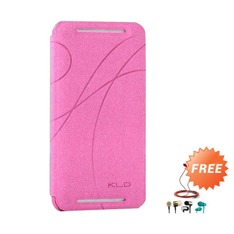 Kalaideng Oscar Flip Cover Leather Case Pink Casing for Samsung Galaxy Note 1 + Earphone