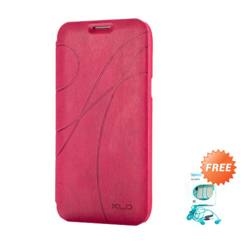 Kalaideng Oscar II Leather Flip Cover Rose Casing for Samsung Galaxy Note 2 + Earphone